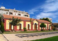 Sala de exposiciones de la antigua estación de RENFE